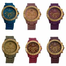 Relojes de pulsera de metal dorado para mujer