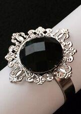 10 Black Diamond Napkin Rings Bridal Shower Wedding Party Table Decoration Favor