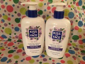 2 Kiss My Face Moisturizing Liquid Hand Soap Lavender Shea 9 oz each