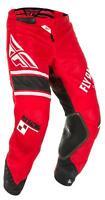 FLY RACING KINETIC MESH ERA PANTS RED/WHITE/BLACK SZ 26 372-33226