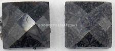 STRASS Quadrati quadrato Grigio scuro marmo 12pz 7mm x 7mm Termoadesivi hotfix