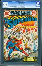 Superman 255 CGC 9.2 OW/W Pages Bronze Age Key DC Comic L@@K !