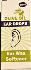 Olive Oil Ear Drops Softens Removes Ear Wax - 10ml