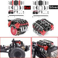 1Set Simulate Radiator Cooling Fan LS7 V8 Engine Motor For1/10 TRX4 SCX10 RC Car