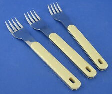 Oneida Colormate Yellow 3 Forks Stainless Steel with Plastic Handle
