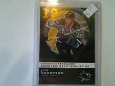08-09 UPPER DECK SUPERSTARS SPOTLIGHT IS6 JOE THORNTON SAN JOSE SHARKS