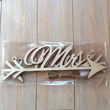 Rustic Wood Wedding Sign Mr & Mrs Arrow Signs Wedding Party Chair Decoration M8
