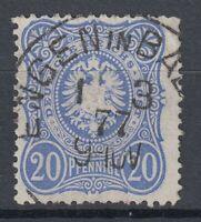 KNZ 38435) ENGEN IN BADEN Agenturstempel 1877 auf Mi.-Nr. 34