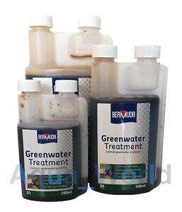 Bermuda Greenwater Pond Algae Treatment Clears Green Cloudy Water 250ml/500ml/1l
