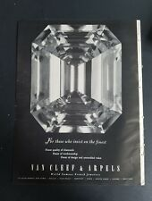 1951 Van Cleef & Arpels finest quality diamond jewelry vintage ads