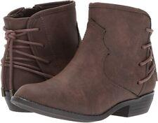 Nina Girls' Evette Slip-On Boot, Brown, 11 M US Little Kid