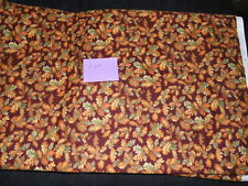 2 Yards Quilting Sewing Fabric Flannel Autumn Leaves Northcott