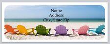 30 Personalized Return Address Labels Beach Buy 3 get 1 free (bo 753)