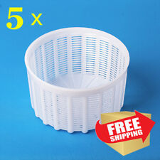 Set of 5 Italian Basket Mold for cheesemaking 1.2 liters (5 in lot)