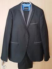 Anzug schwarz silber Gr. 56  BRUNO BANANI Heine Sakko  edel FESTLICH NP190€