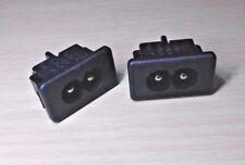 1 PAIR - Black IEC320 C8 Power Socket Connector (250V AC - 2.5A - 2 Pin)