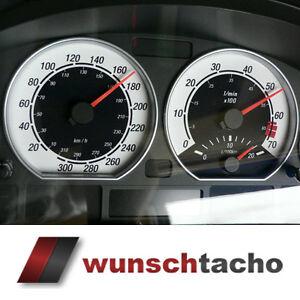 Tachoscheibe für Tacho BMW E46 Diesel *Black Face 2  310 kmh Top