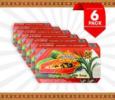Asantee Papaya & Rice Milk Soap 125g -  6 Pack
