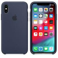 Genuine / Original Apple Silicone Case for iPhone XS - Midnight Blue - New