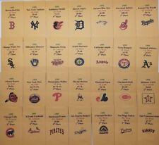 1995 Strat-O-Matic Baseball Printed Storage Envelopes with Stats and Team Logo
