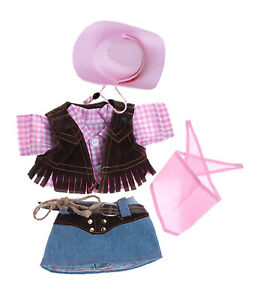 """Cowgirl with Pink Hat and Scarf Fits Most 8""""-10"""" Webkinz, Shining Star and 8""""-10"""