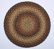 "Homespice Decor RUSSET Braided Jute 15"" Round Placemat - Trivet"