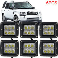 6x 4inch Square LED Work Light Flood Beam Fog lamp18W for Land Rover Jeep Hummer