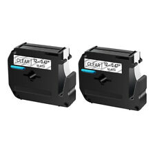 2pk M K131 Mk131 Black On Clear 047 Label Tape For Brother P Touch Pt 70 12mm