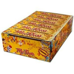 Mr Tom Peanut Crunch Bars 40g Retro Full Box 36 Pack