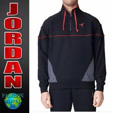 Nike Size Large Air Jordan 3 Vault 1/4 Zip Pullover Jacket Black Red 914522-010