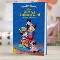 Personalised Mickey's Christmas Carol Story Book Hardback Children Gift