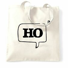 Nerdy Christmas Tote Bag Ho Cubed Speech Bubble Math Geek College Funny