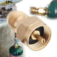 Brass LPG GAS ADAPTOR Refill your 1 LB Cylinder Tank  from 20-40 LB. Tank