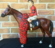 Vintage 1978 Old Bardstown Citation Eddie Arcaro Whiskey Decanter Porcelain Hors