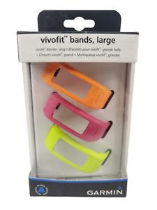 Garmin Vivofit Replacement  Bands 3 Pack Large 010-12149-00 Authentic Accessory