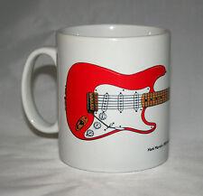 Guitar Mug. Hank Marvin's Red Fender Stratocaster illustration.