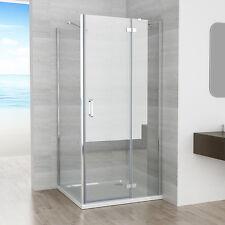 80 x 90 cm Duschkabine Eckig Dusche Scharniertür Duschwand 80cm Seitenwand NANO