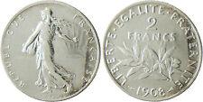 III° RÉPUBLIQUE  ,    2  FRANCS  SEMEUSE     ,  1908