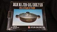 Tempered Glass Covered Cooking Pot Korean Jeongol Hot Pot Hyundai Metal