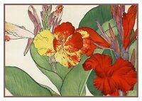 Asian Flower Tanigami Cana Lily Counted Cross Stitch Chart Pattern