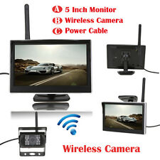 "5"" TFT LCD WiFi Car Monitor Wireless Reverse Car Rear View Backup Camera Cam Kit"