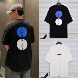 Balenciaga² Print Letter Spell Color men casual Loose Short -sleeved T-shirt