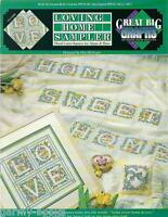 Loving Home Sampler Alphabet Squares Great Big Graphs Cross Stitch Patterns NEW
