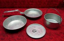 VINTAGE 1950's GIRL SCOUT CAMPFIRE COOKWARE MESS KIT REGAL 4 PIECES
