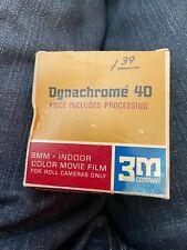 1 - Dynachrome 40 3M Double 8MM Intérieur Couleur Film Asa Film Rouleau 25 feet