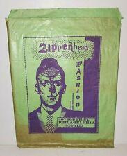 ZIPPERHEAD PUNK VINTAGE PAPER BAG PHILADELPHIA RETAIL STORE DEAD MILKMEN 1980s