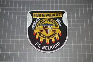Ft. Belknap Montana Fish & Wildlife Patch (B17-A21)