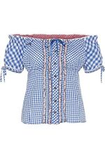 Stockerpoint Damen T-Shirt Bluse Lina Türkis Azur Kariert Dirndl Trachten 38