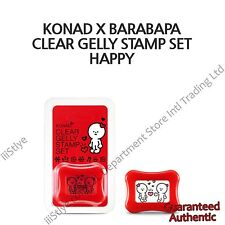 KOREA KONAD X BARABAPA CLEAR GELLY STAMP AND SCRAPER SET HAPPY