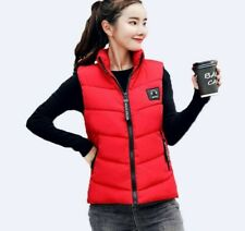 Zipper Closure Winter Outwear Vest For Ladies Pocket Decor Casual Style Clothing